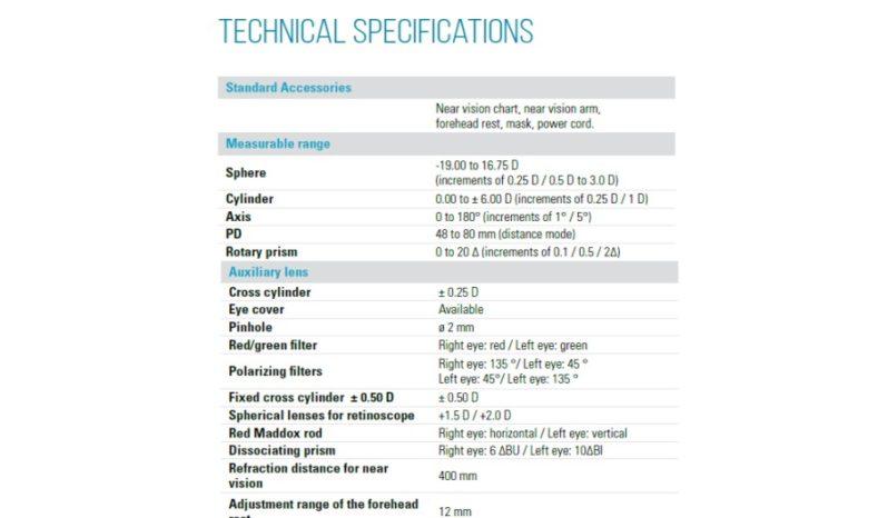 Foropter automatyczny VISIONIX VX60 full
