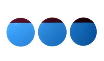 Folia Ochronna 30mm okrągła S-0000-0260 niebieska full