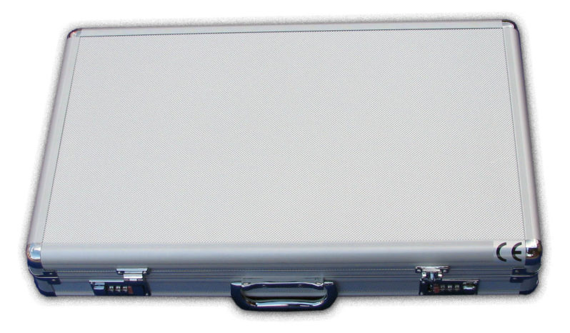 KASETA OKULISTYCZNA 230 soczewek metal kolor, walizka metal full