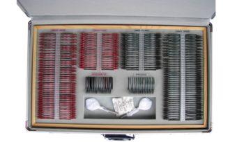 KASETA OKULISTYCZNA 260 soczewek metal kolor, walizka metal full