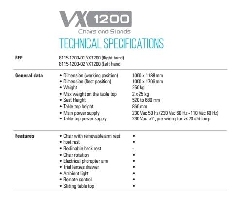 Gabinet okulistyczny VISIONIX VX1200 AUTO full